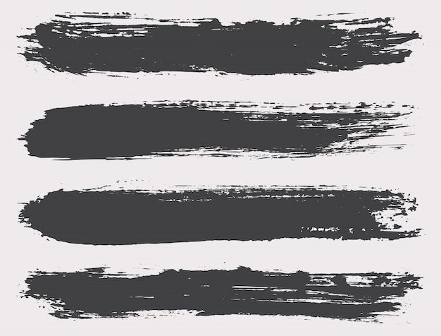 Black grunge brushes