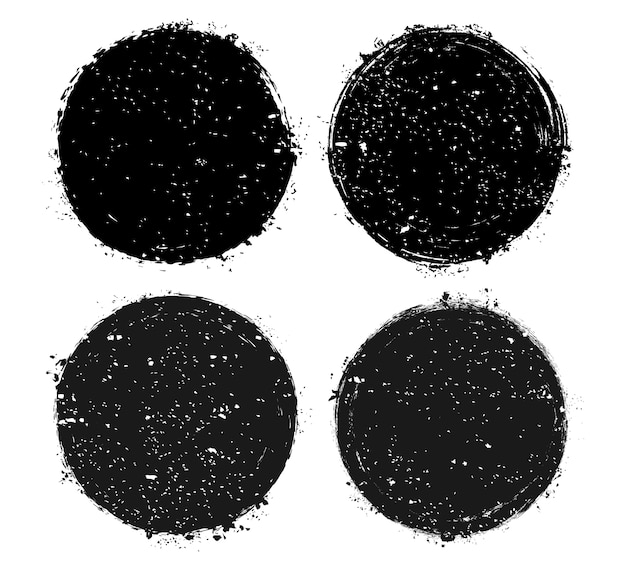 Black grunge circle frames