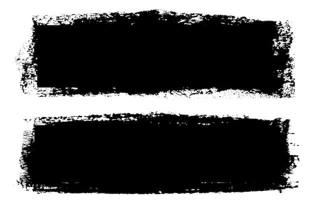 Черные гранж грязные баннеры