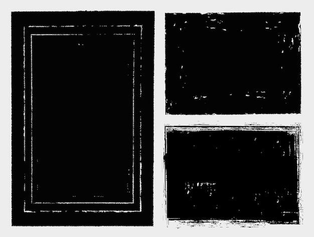 Black grunge distressed frames