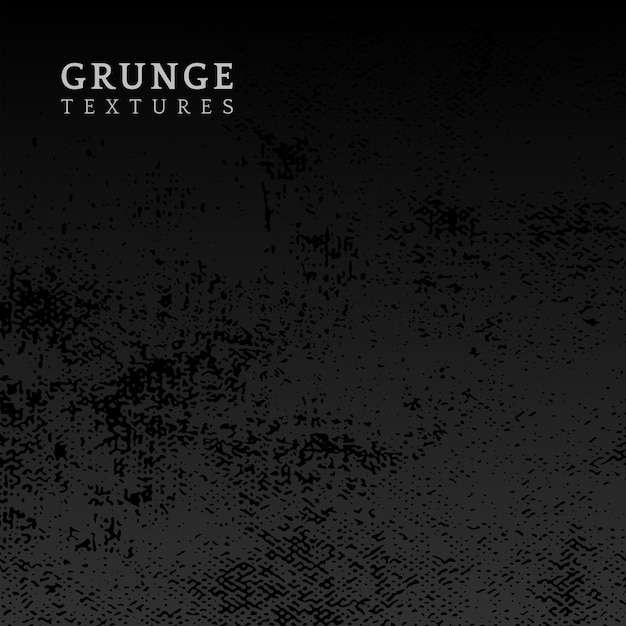 Black grunge distressed texture vector