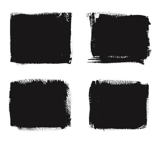 Набор рамок черный гранж