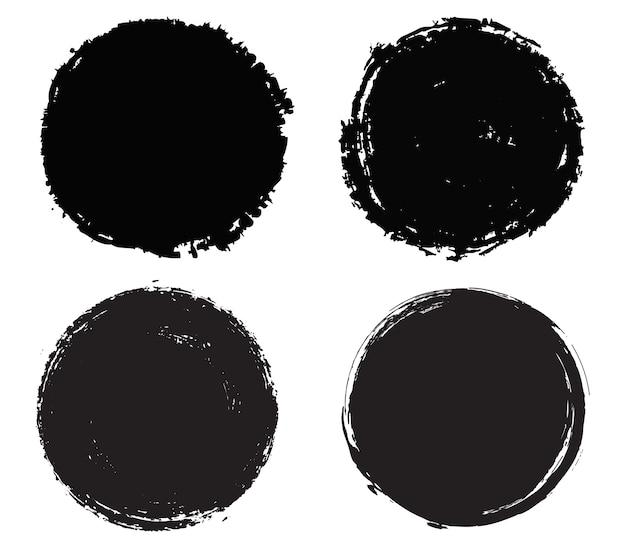 Черные круглые рамки гранж