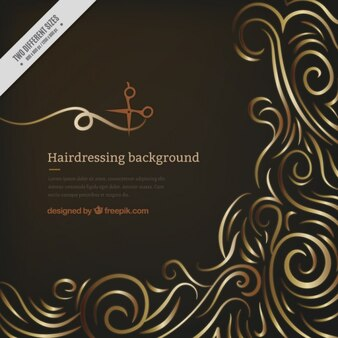Black Hairdressing salon Background
