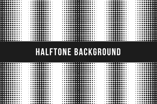 Black halftone background