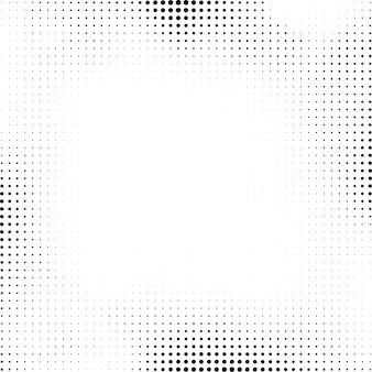 白い背景に黒のハーフトーンデザイン