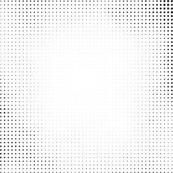 Black halftone design on white background