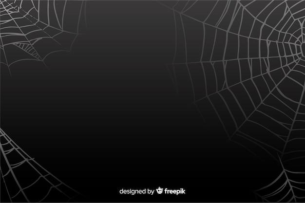 Фон черный хэллоуин паутина