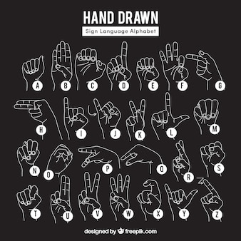 Black hand gesture collection