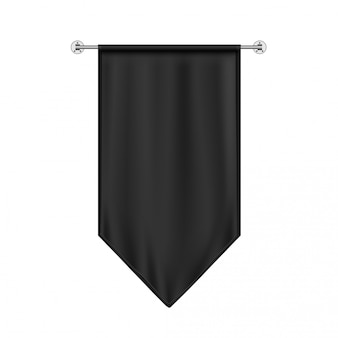 Black hanging flag