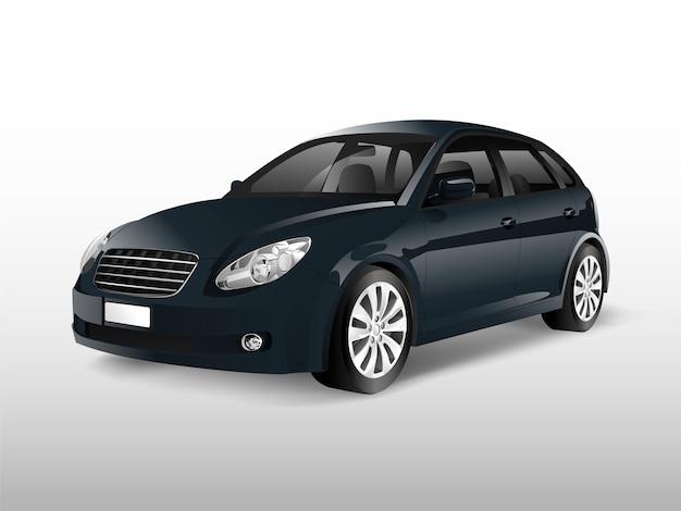 Black hatchback car isolated on white vector