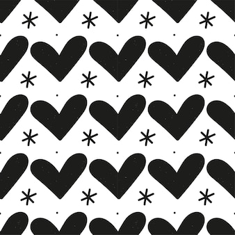 黒のハートのパターン