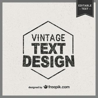 Disegno tipografia vettoriale vintage