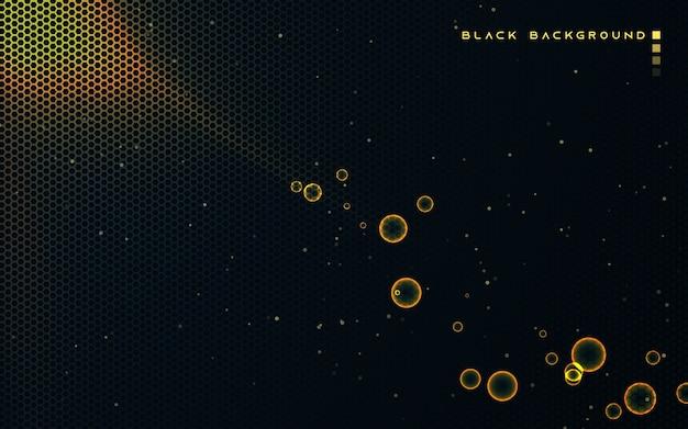 Black hexagon texture background