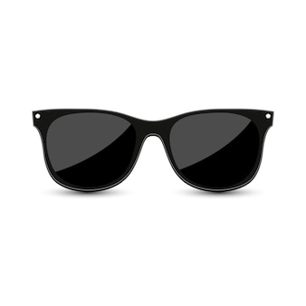 Black hipster sunglasses