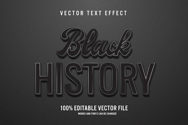 Черная история 3d редактируемый текстовый эффект
