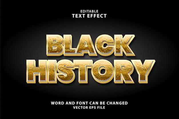 Черная история 3d золотой цвет текстовый эффект eps
