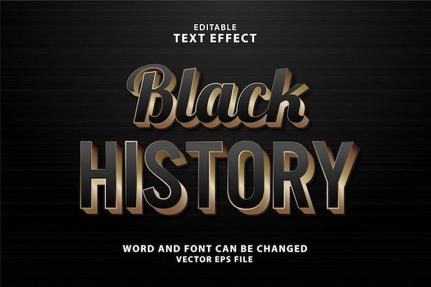 Черная история 3d текстовый эффект