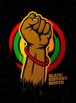 Black history month grunge design