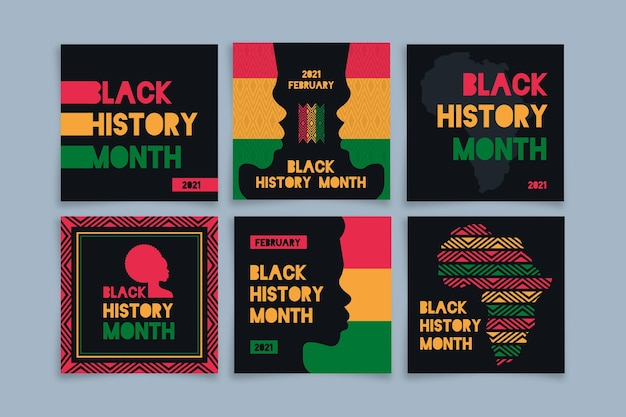 Black history month instagram posts collection