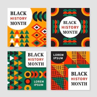 흑인 역사의 달 인스타그램 게시물