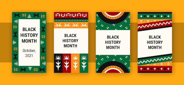 Black history month instagram stories template
