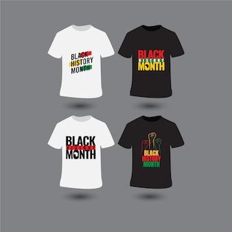 흑인 역사의 달 템플릿. 티셔츠 또는 인쇄용 디자인.