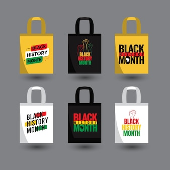 Black history month  template. design for tote bag or print.