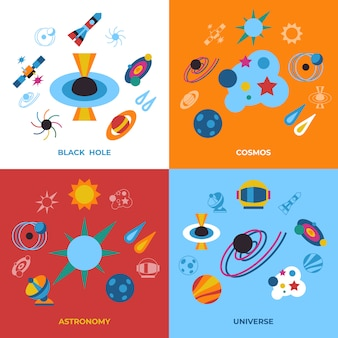 Black holes and cosmos icons