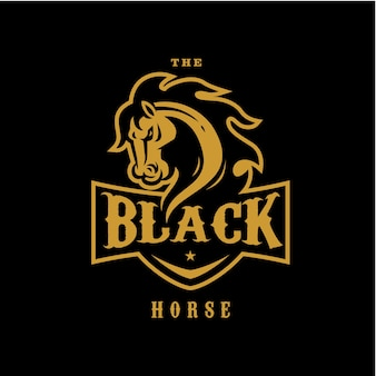 The black horse logo badge sport team