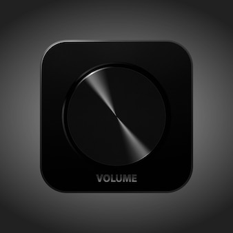Black icon for application, podcast, music. realistic style vector illustration.