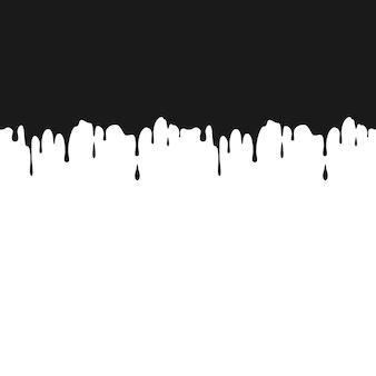 Черные чернила капли иллюстрации