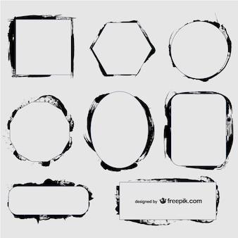 Black ink frames set