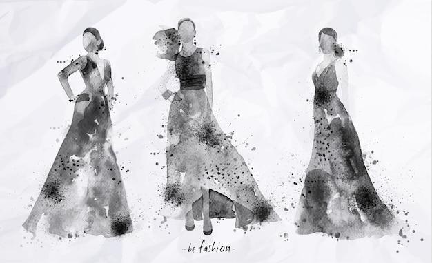 Black ink sketch poster