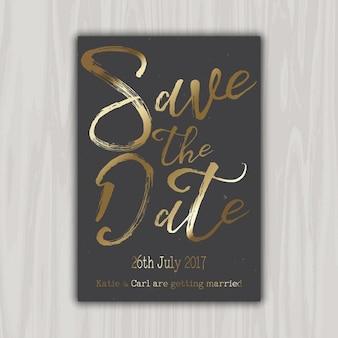 Disegno decorativo di salvare la data dell'invito