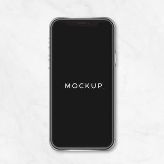 Black iphone x mockup vector