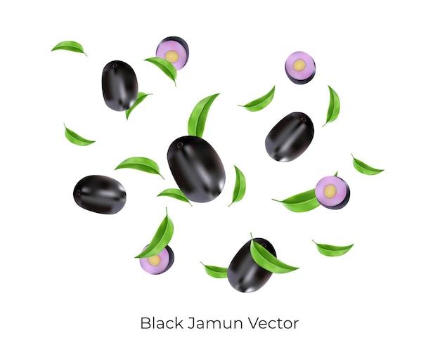 검은 자문이 떨어지거나 낙엽과 조각으로 날아