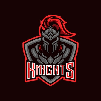 Black knight emblem esport mascot