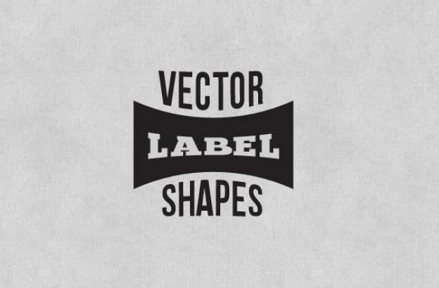 Black label shapes vector pack