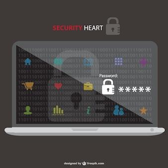 Black laptop security