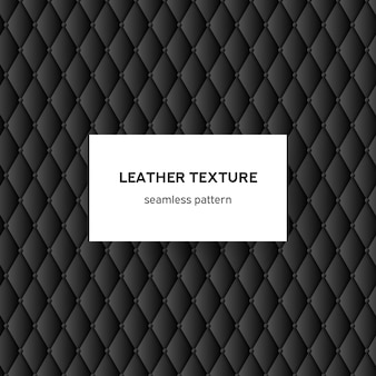 Black leather texture seamless pattern vector background for luxury design