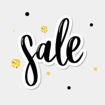 Black letters: sale, hand sketched sale lettering typography. hand drawn sale lettering sign. badge, icon, banner, tag, illustration