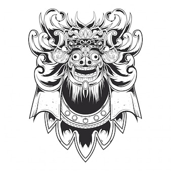 Black line barong design