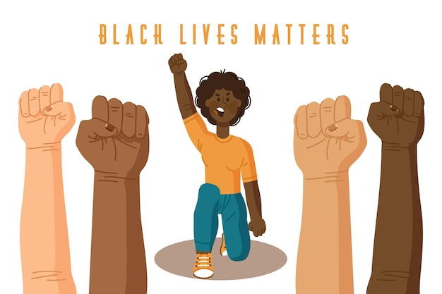Black lives matter concept illustrated