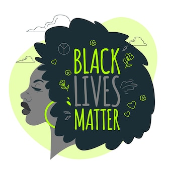 Black lives matter concept illustration