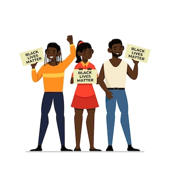 Black lives matter illustration