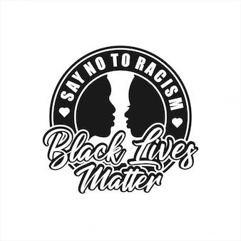 Black lives matter insignia