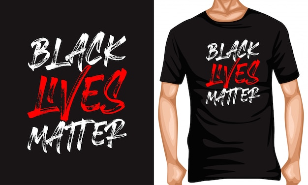 Black lives matter lettering typography quotes
