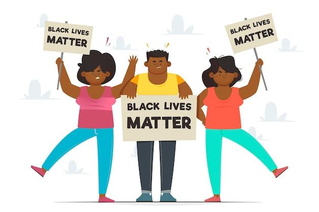 黒人の生活は抗議