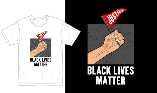 Черная жизнь имеет значение футболка дизайн графический вектор